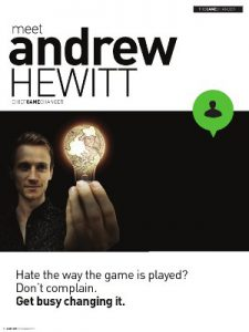 Profile of Andrew Hewitt
